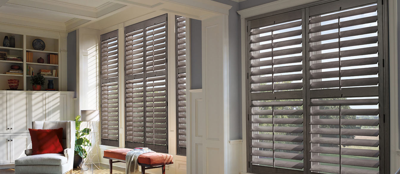 Quality custom window treatments shades shutters blinds for Designer window treatments