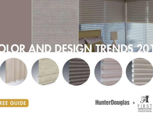Window Treatment Color & Design Trends 2017