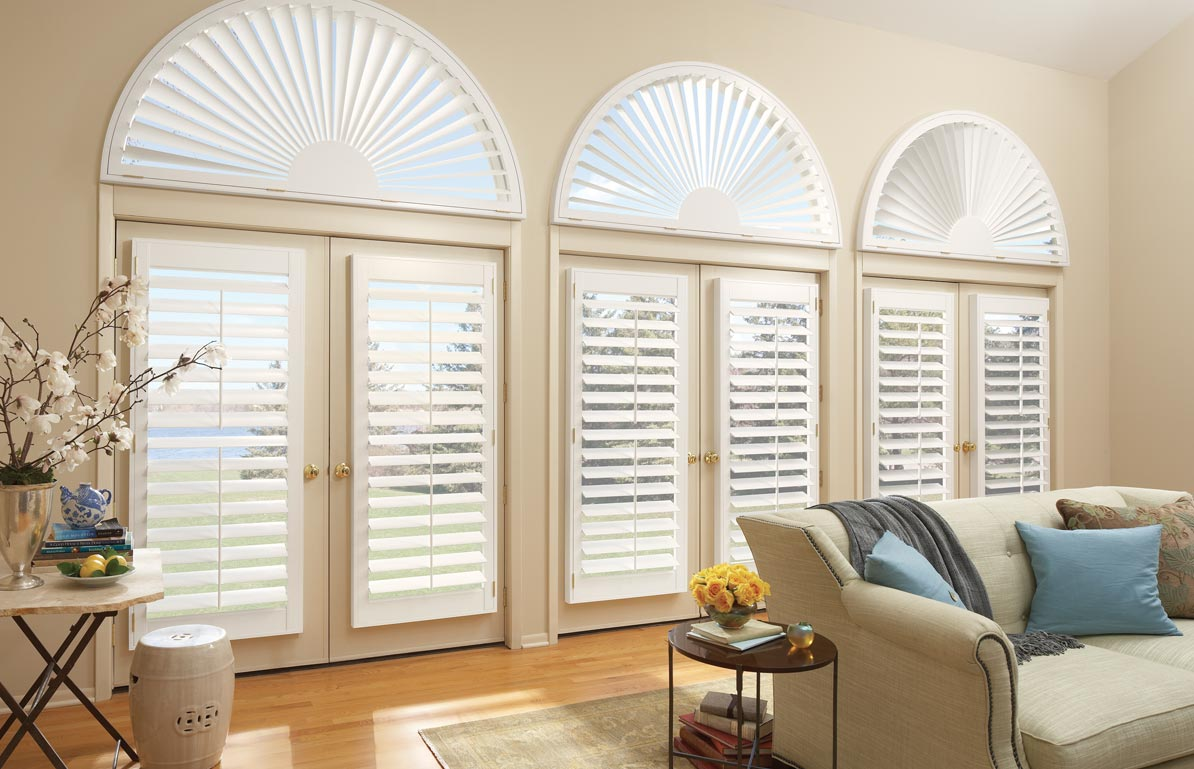Hybrid Shutters on Doors and Arches