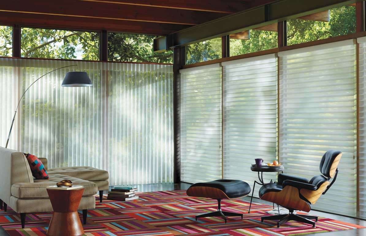 Custom Window Treatments - Living Room - Lafayette