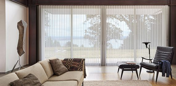Buy Hunter Douglas Lunimette® Modern Privacy Sheers in Walnut Creek