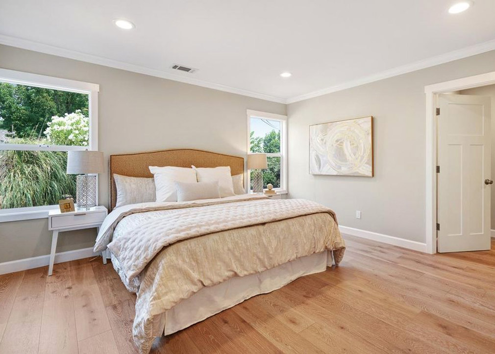 Transitional Master Bedroom Design Walnut Creek Bay Area